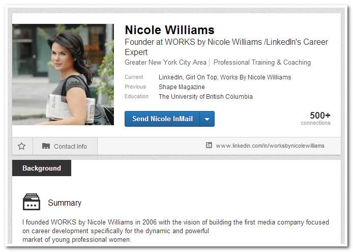 Николь Уильямс, эксперт по карьере LinkedIn
